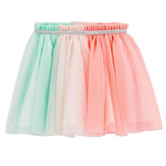 Carter's Other - Carter's Rainbow Colorblocked Tulle Tutu Skirt
